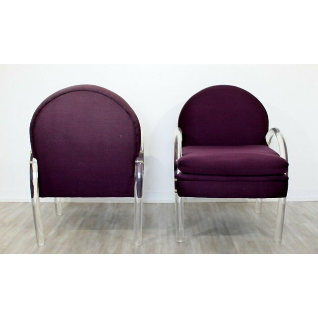 Mid Century Modern Pair Pace Lucite Armchairs Charles Hollis Jones Style 1970s For Sale In Detroit - Image 6 of 8