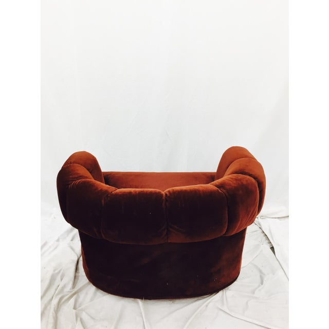 Vintage Mid-Century Modern Chair & Ottoman For Sale - Image 11 of 11