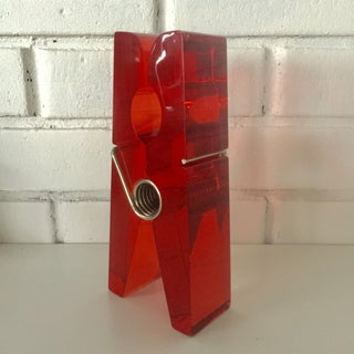 Giant Red Lucite Clothespin Preview