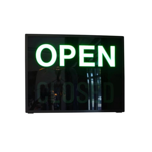 'Open / Closed' Illuminated LED Light Box, Circa 1980s - Image 4 of 6
