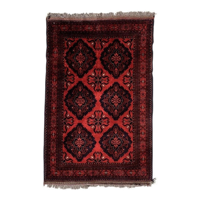 Late 20th Century Kahn Mohamadi Rug - 4′2″ × 6′3″ For Sale