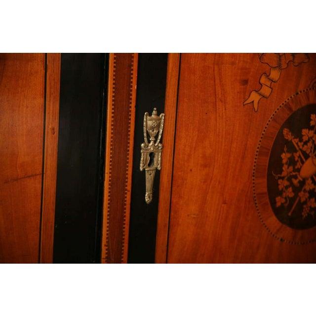 Dutch Neoclassic Sycamore, Ebonized Marquetry Credenza For Sale In Miami - Image 6 of 9