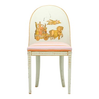Early 20th Century Milton Textiles Neoclassical Appliqué Chair For Sale