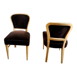 """Jean Royere Documented Pair of Chairs Model """"Restaurant Drouant"""" For Sale"""