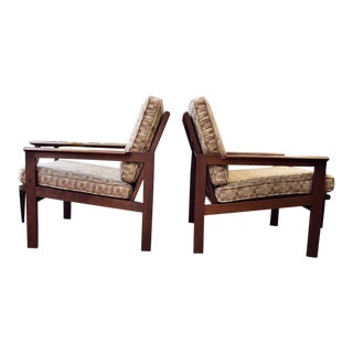 """Vintage Pair of """"Capella"""" Lounge Chairs by Illum Wikkelso 1960's For Sale"""