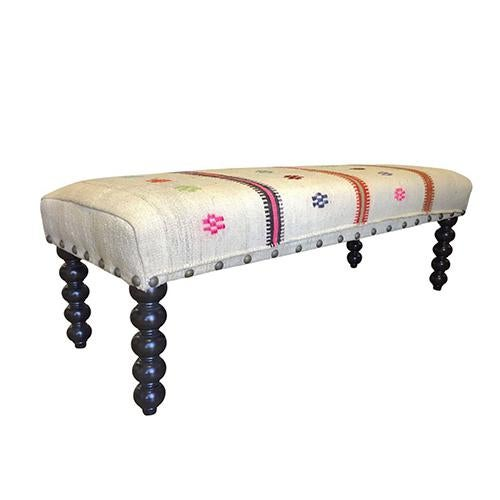 Kim Salmela Kilim Carly Bench - Image 3 of 6