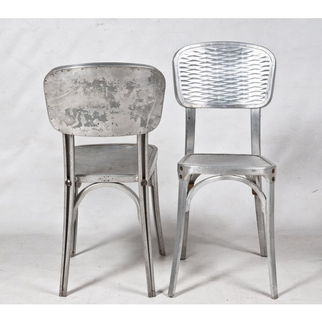 Gaston Viort Aluminum Chairs - Set of 4 For Sale - Image 4 of 5