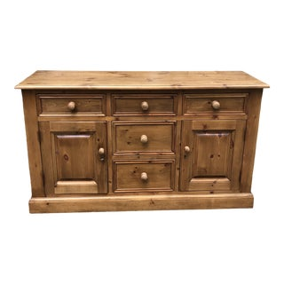 Rustic Solid Pine Cabinet or Sideboard For Sale