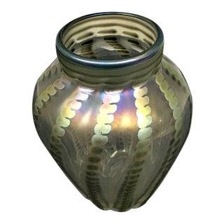 Vintage Lundberg Glass Vase For Sale