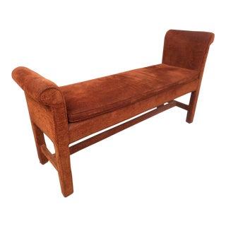 Vintage Modern Upholstered Settee Bench For Sale