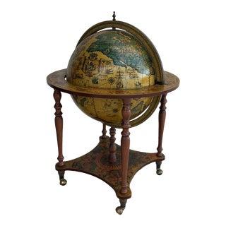 Mid 20th Century Zodiac Decorative Globe Bar Cart For Sale