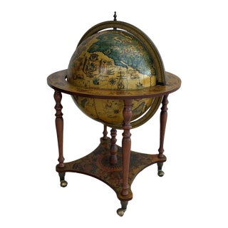 Zodiac Decorative Globe Bar Cart For Sale