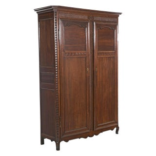 19th Century French Oak/Elm Armoire