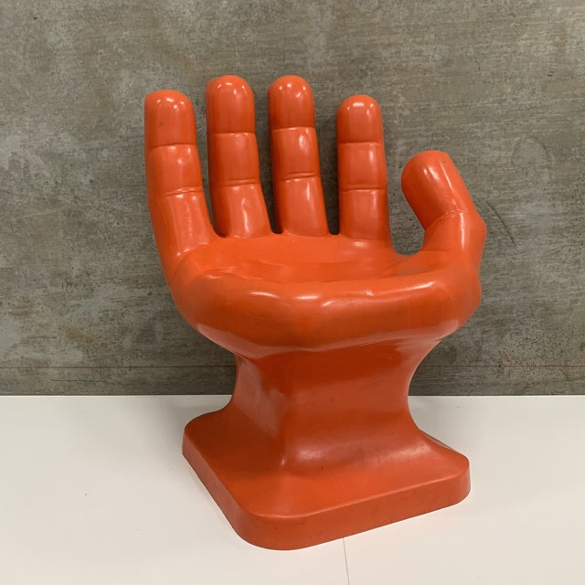 Vintage Modern Plastic Molded Hand Chair For Sale - Image 10 of 10