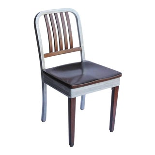 1950s Shaw Walker Aluminum & Wood Chair For Sale