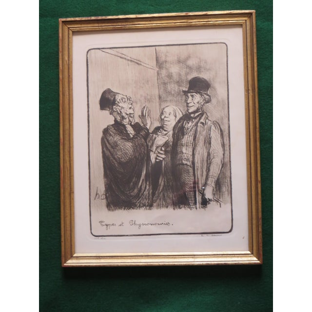 Signed Honore Daumier Caricatures - Set of 3 - Image 8 of 11