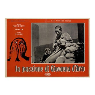 The Passion of Joan of Arc R1959 Italian Fotobusta Film Poster For Sale
