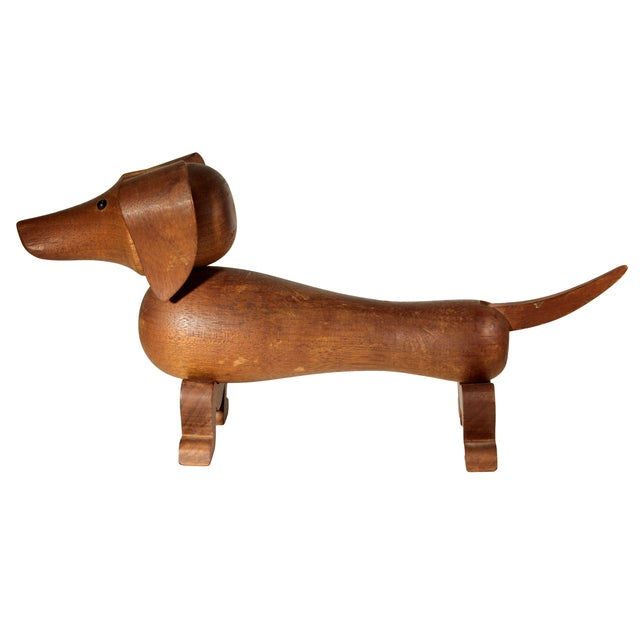 Danish Modern Kay Bojesen Wooden Toy Dachsund For Sale - Image 3 of 8