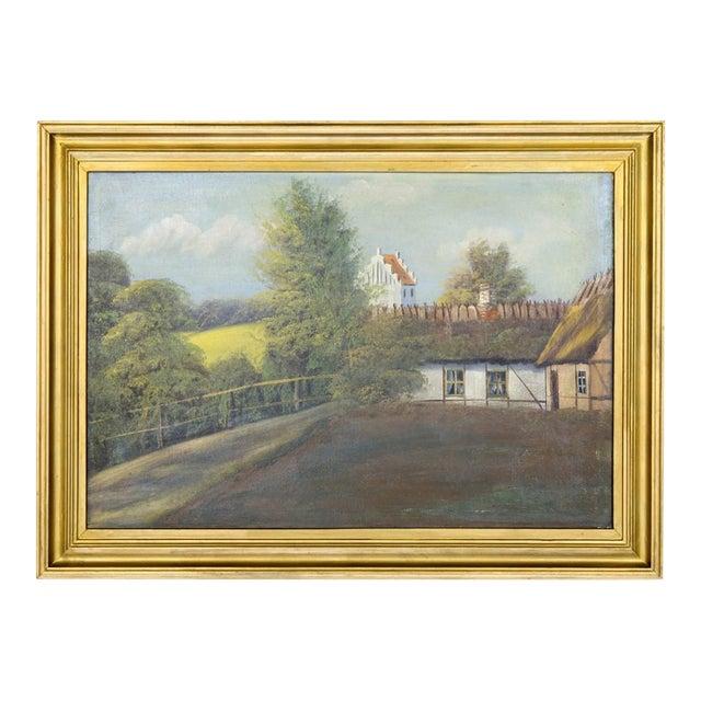 Swedish Landscape Oil on Canvas, C. 1900 For Sale