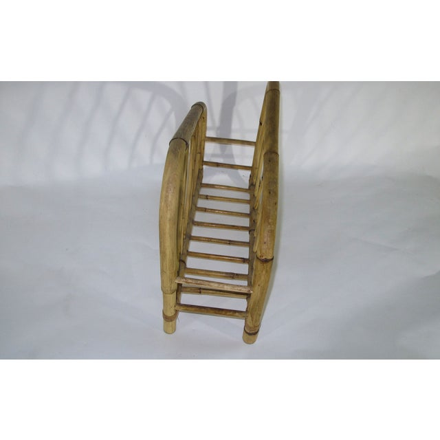 1960's Bamboo Magazine Rack For Sale - Image 4 of 6