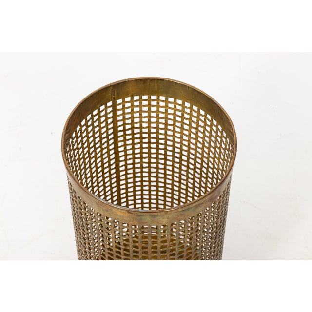 Solid brass umbrella stand with a basket weave design. Very good overall condition. Can he professionally packed and...