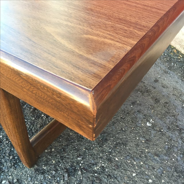 Mid Century Modern Walnut Coffee Table - Image 9 of 10