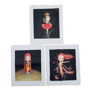 Childrens Oil Paintings - Set of 3 For Sale
