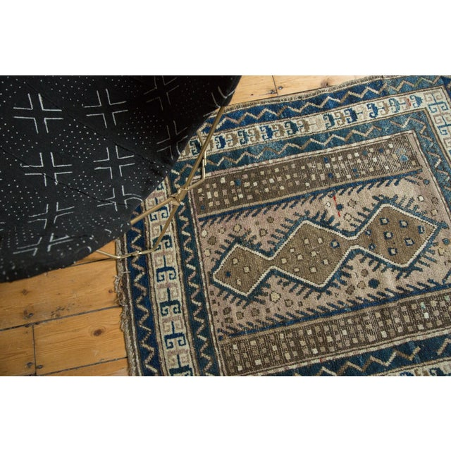 """Vintage Caucasian Square Rug - 3'6"""" x 4' For Sale In New York - Image 6 of 10"""