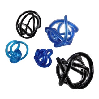 Vintage Glass Knot Collection - Set of 5 For Sale
