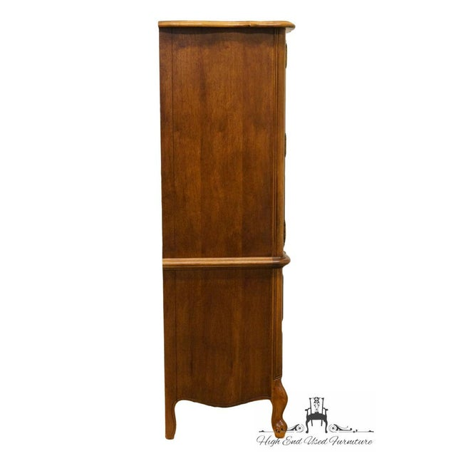 Late 20th Century Vintage Stanley Furniture French Regency Style Armoire For Sale - Image 10 of 13