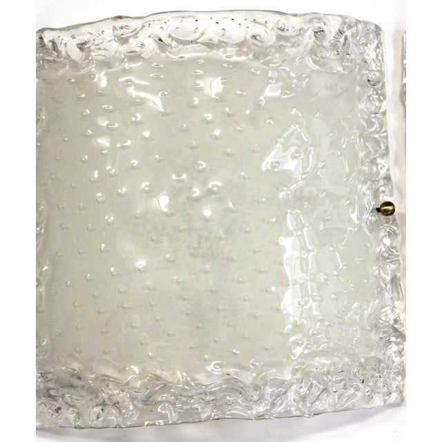 White Italian Modern Glass Sconces - a Pair For Sale - Image 8 of 13