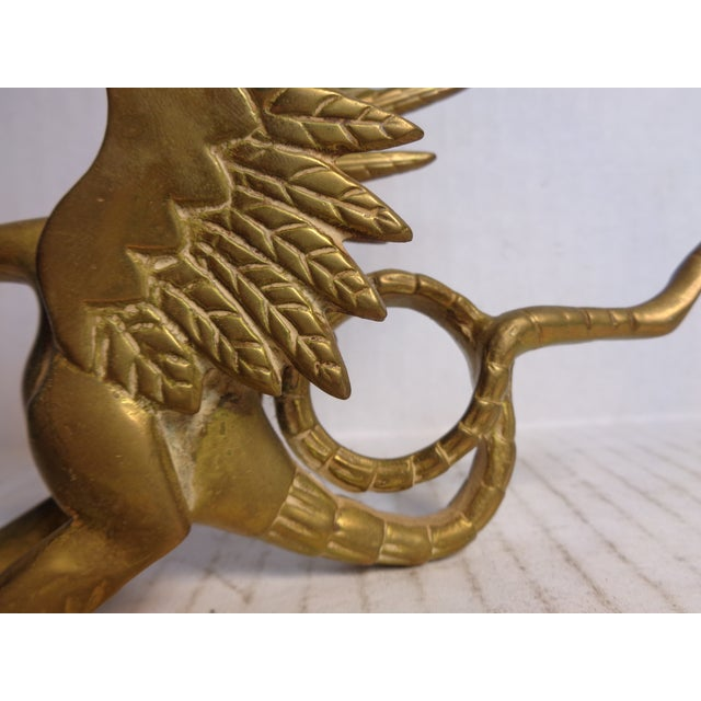 Brass Dragon Candlesticks - Pair For Sale In Richmond - Image 6 of 6