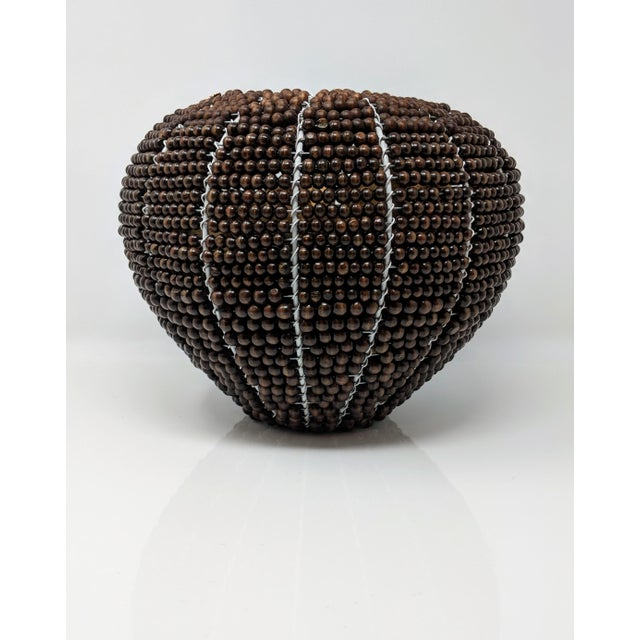 Tribal Fair Trade Beaded Vase For Sale In Providence - Image 6 of 13