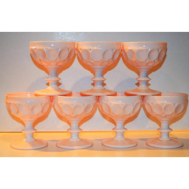 Vintage Champagne Coupe Glasses - Set of 7 For Sale - Image 4 of 8