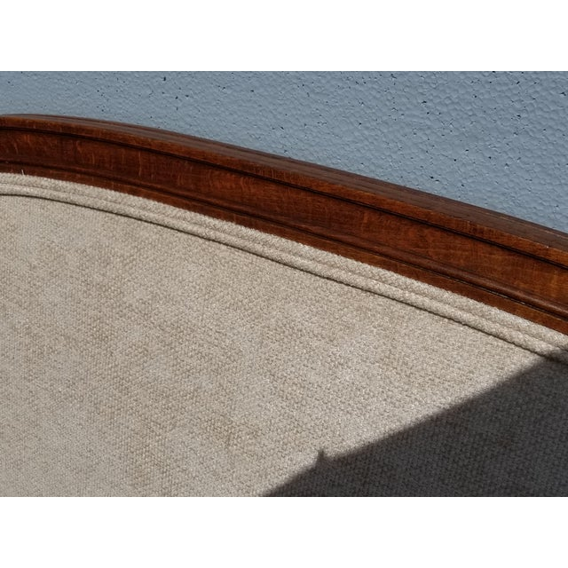 Tan Pair of Vintage French Country Tan Twin Headboards Low Profile For Sale - Image 8 of 13