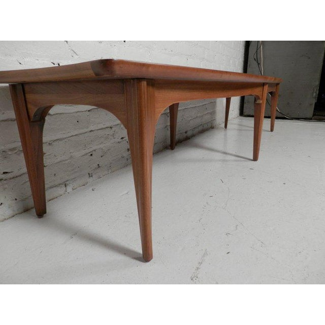 Long Surfboard Style Mid-Century Coffee Table