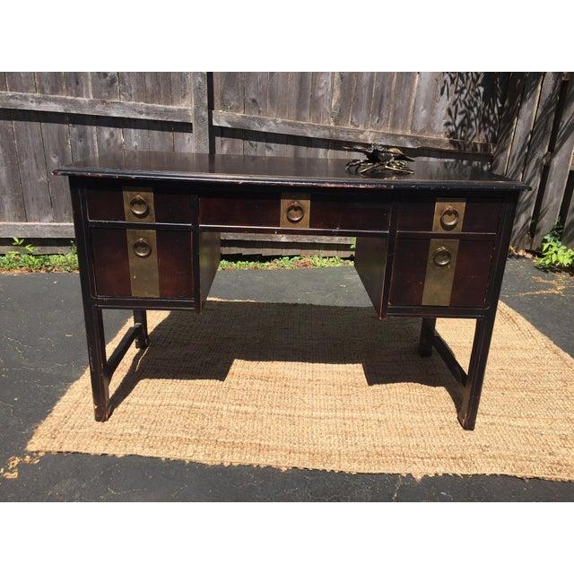 Dark Brown Vintage Bassett Desk - Image 2 of 9