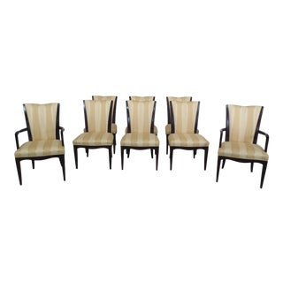 Set of 8 Baker Modern Design Dining Room Chairs For Sale