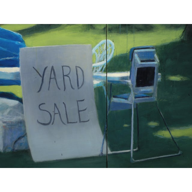 "Paint ""Yard Sale on the 4th of July"" Original Painting For Sale - Image 7 of 11"