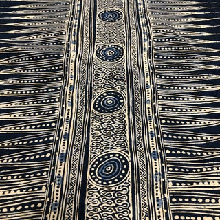Lee Jofa Indian Zag Indigo Fabric For Sale