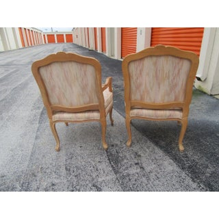 1970s Vintage Solid Wood Bergere Chairs- A Pair Preview