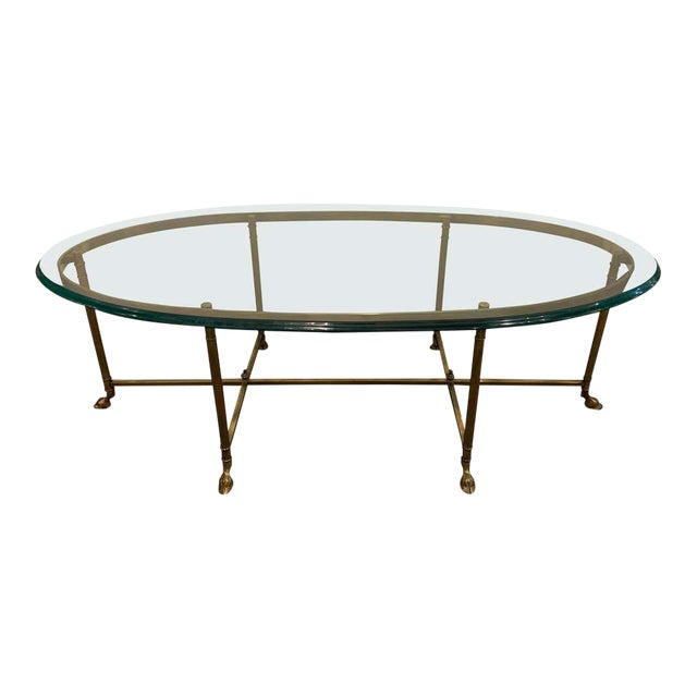 French Hoof Foot Jansen Style Coffee/Low Table For Sale