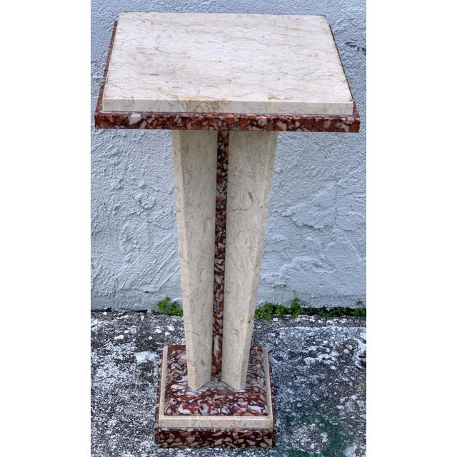 Mid 20th Century French Art Deco/Modern Marble Pedestal For Sale - Image 5 of 8