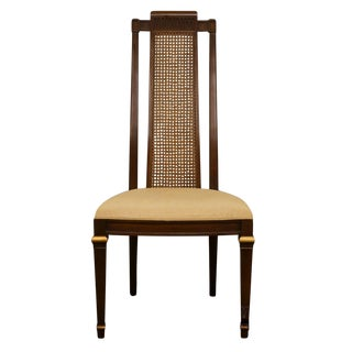 Heritage French Regency Style Cane Back Dining Side Chair For Sale