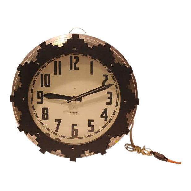 1930s Neon Aztec Clock - Image 1 of 2