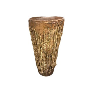 African Tribal Animal Hide Hand Drum For Sale