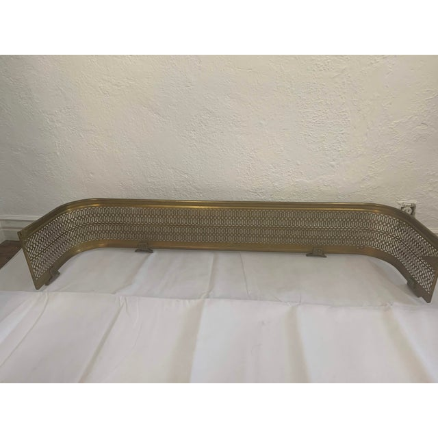Metal Vintage Brass Claw Foot Fireplace Fender For Sale - Image 7 of 13