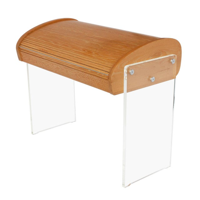 Vladimir Kagan Roll Top Writing Desk - Image 1 of 10