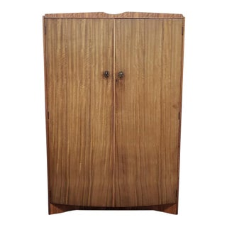 Mid Century Teak Armoire - Great Extra Closet - Uk Import For Sale