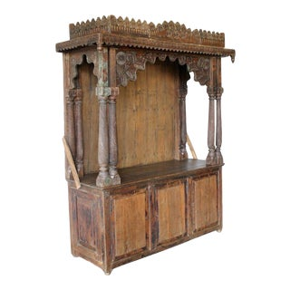 Antique Indian Teak Temple or Shrine For Sale